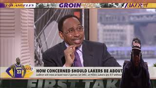 FIRST TAKE S**T STEPHEN A SAYING THE LAKERS CHAMPIONSHIP HOPES ARE SLIM TO NONE BRUH!