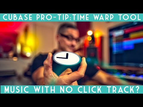 Cubase Pro Tip: The Time Warp Tool. Map the tempo to any freely played song!