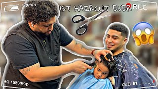 ZAKYIUS FIRST HAIRCUT & THIS HAPPENED!! *RAYSSA DIDN'T KNOW* 😳