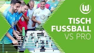 Kickerduell: Malli & Menzel vs. Tischfußball-Weltmeister   Challenge   VfL Wolfsburg