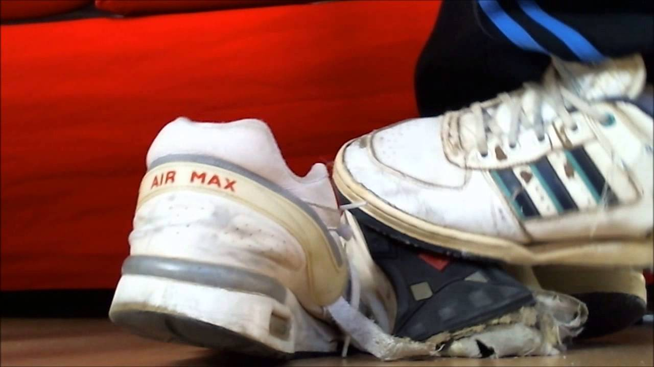 adidas hardcourt and old worn versus nike air max classic bw - YouTube 98ad42ce5