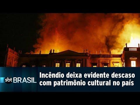 Incêndio no Museu Nacional deixa evidente descaso com patrimônio cultural | SBT Brasil (04/09/18)