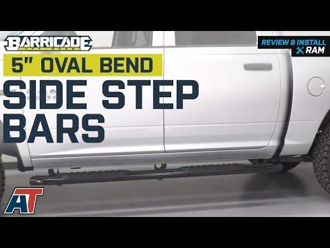 "Black 6/"" Oval Tube Side Step Nerf Bar for 09-14 Ram 1500//2500//3500 Crew Cab 4Dr"