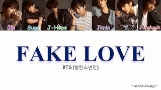 BTS - Fake Love Color Coded Lyrics (Türkçe Çeviri/Laviniapy)