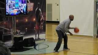 NBA Legend Kenny Smith Demos NBA Baller Beats Xbox 360 Kinect Game at NYC Press Conference