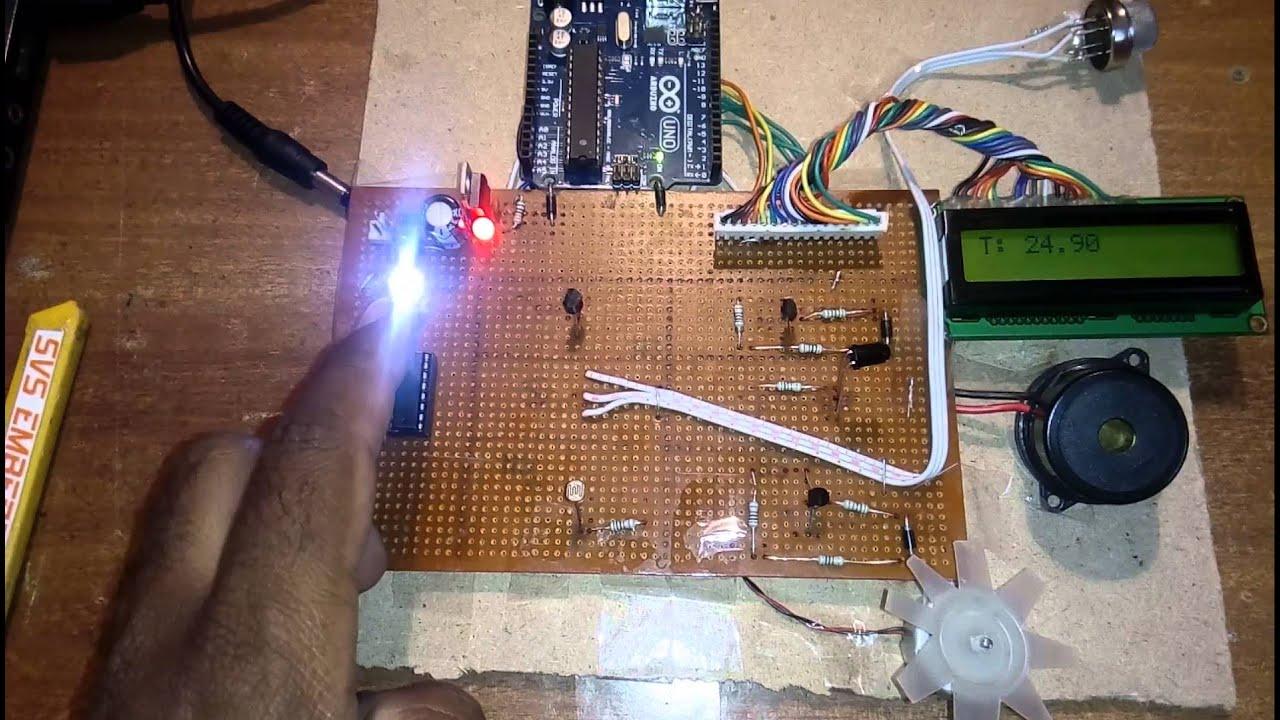 Temperature/smoke Sensor/ldr + Arduino + LabVIEW Data Acquisition ...
