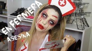 Enfermera asesina/Maquillaje de halloween-Jackie Hernandez