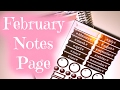Planning The February Notes Page and Fighting With My Camera