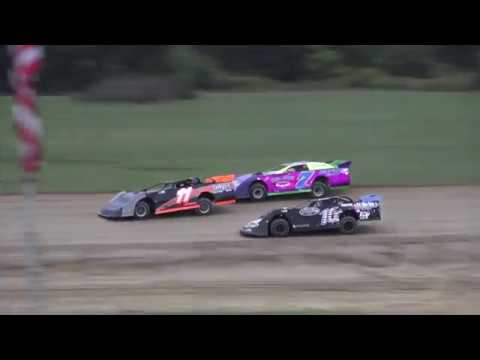 Late Model Heat Race #2 at Crystal Motor Speedway, Michigan on 09-01-2019!