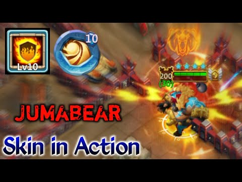 Jumbear | Skin In Action | 14 Skill | 10/10 Flame Guard | 10 Sacred Light | 5 HC | Castle Clash
