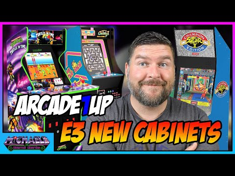 Arcade1Up E3 2021 Ms. Pac-Man Galaga Class of 81, Street Fighter 2 Big Blue and Turtles in Time from MichaelBtheGameGenie