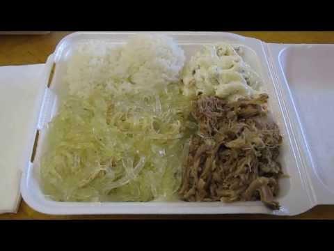 Kalua Pork & Chicken Long Rice @ Poi Bowl Makai Market Food Court Ala Moana Honolulu Oahu Hawaii