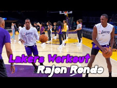 Lakers Rajon Rondo Workout And 1 On 1 Scrimmage