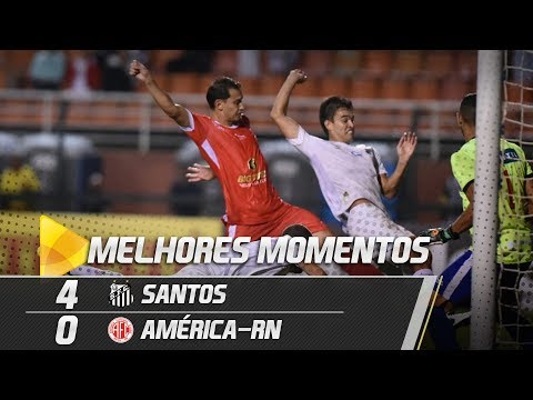 Santos 4 x 0 América-RN | MELHORES MOMENTOS | Copa do Brasil (07/03/19)