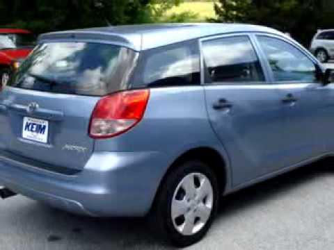 Sold 2003 Toyota Matrix Keim Chevrolet Inc Paradise Pa