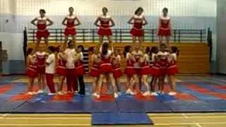 cardinal newman cheerleaders routine2 06/07