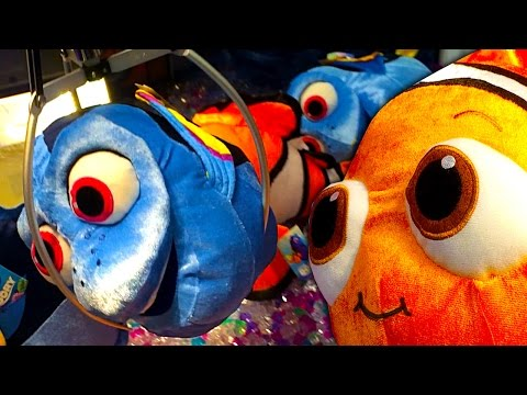 Rigged Claw Machine Finding Dory & Nemo Toys How To Waste Parents Money