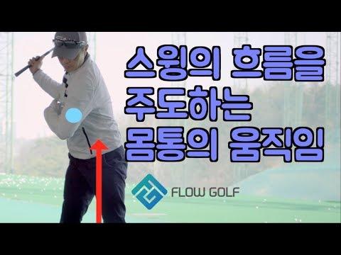 [골프레슨]몸통회전 | 스웨이교정 | 얼리익스텐션 | flowgolf | 최대룡 프로