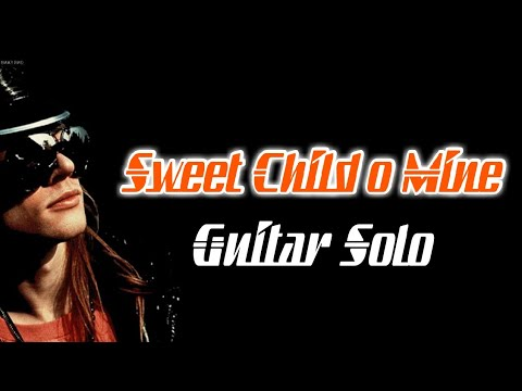 Sweet Child O Mine Solo Backing Track (Standard Tuning)