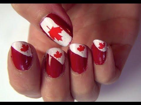 Canada Day Nail Tutorial Youtube
