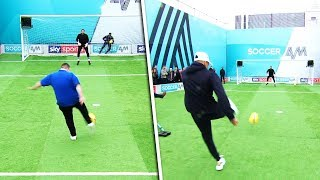 AFC Wimbledon fans & Jesse Lingard take on the volley challenge!