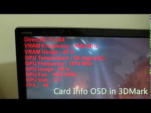 MSI GTX 1070 GAMING X 8GB -- GAMING APP OSD in 3DMark - YouTube