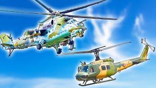 10 самых ДРЕВНИХ ВЕРТОЛЁТОВ на вооружении ⭐ Живые легенды Ми-24, UH-1 Iroquois и Ми-8