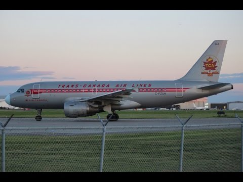 air canada a319 113 retro livery takeoff yul youtube. Black Bedroom Furniture Sets. Home Design Ideas