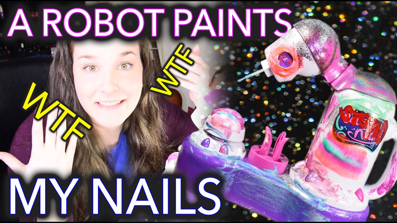A Robot Paints my Nails because technology - YouTube