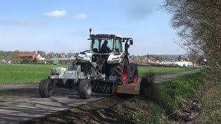 Stehr Wegepflegesystem SUG 35T mit Bankettfräse für Forst- und Schotterstraßen