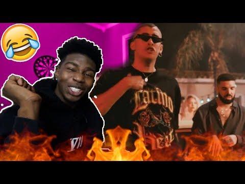 Bad Bunny feat. Drake - Mia ( Video Oficial ) Reaction !