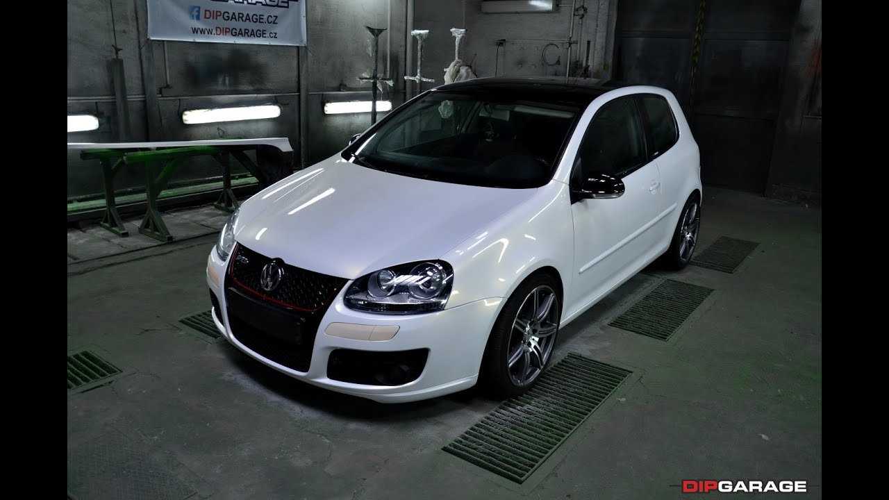Vw Golf V White Pearl Dip Top Gloss Protect Dip Youtube