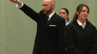 Raw: Mass Murderer Makes Nazi Salute In Court