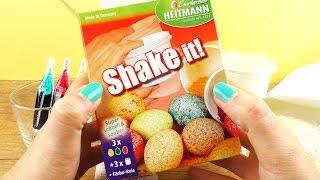 SHAKE IT! Ostereier färben SUPER einfach | Schüttel Technik | Oster Idee für Eier