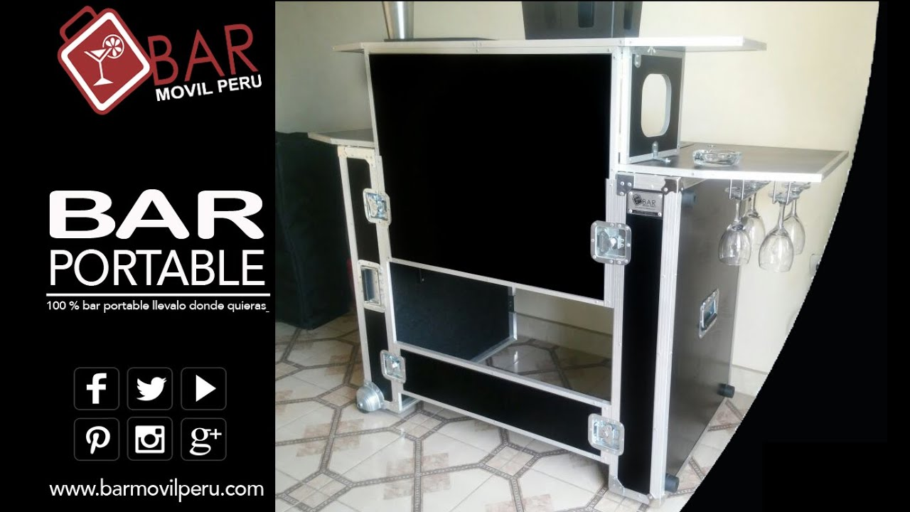 Bar portable 100 bar portatil para bartender barman barra for Bar portatil madera