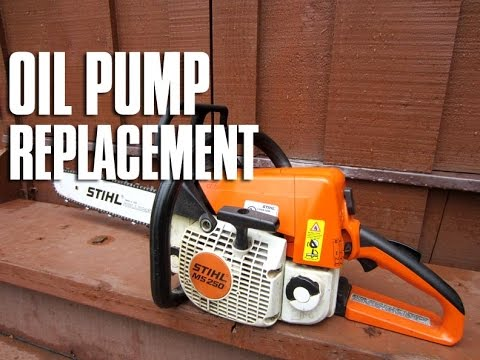 oil pump replacement on a stihl ms250 ms230 chainsaw youtube STIHL MS 250 Parts Breakdown diy donyboy73 chainsaw