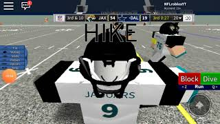 (Jacksonville Jaguars VS Dallas Cowboys) Roblox Lengendary Football: Episode 7