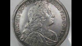 Old Coins House Habsburg Thaler 1730 Tyrol Hall Carl VI