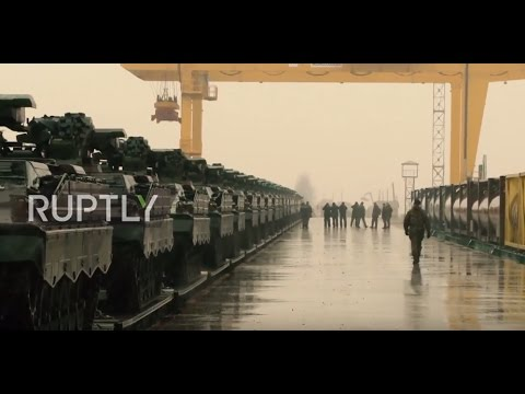 Lithuania: Dozens of German tanks arrive in Lithuania for NATO deployment