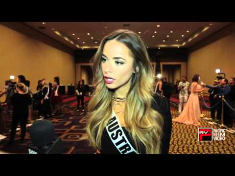 2015 Miss Australia - Monica Radulovic  ust recently learned how to put on makeup correctly