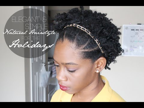 easy and elegant natural hairstyle