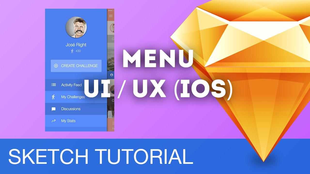 Sketch 3 Tutorial • Menu UI/UX (iOS) • Sketchapp Tutorial & Design ...