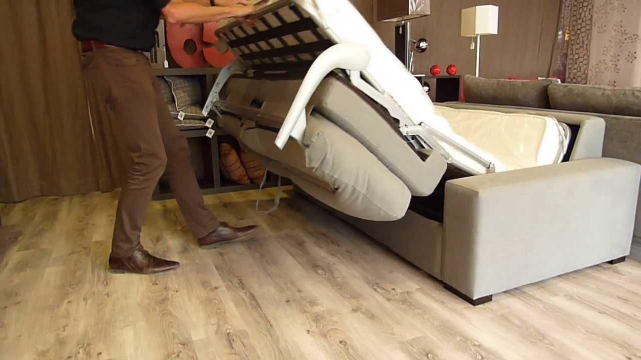 D plier un canap lit nova de la marque home spirit youtube - Canape poltron et sofa ...