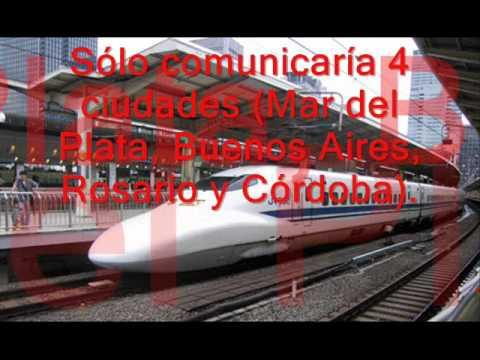 tren bala vs ferrocarril argentino