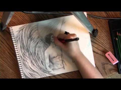 Drawing Long, Flowy Angel Wings