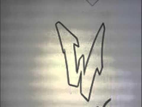 Graffiti alphabet n 1 lettre par lettre pour d butants ou intermedaire simple letters youtube - Lettre graffiti alphabet ...