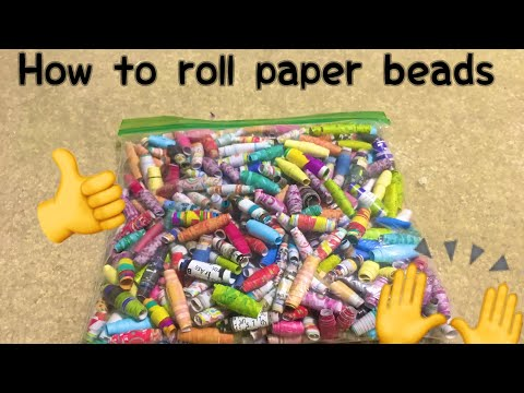 How To Make Paper Beads By Hand NO TOOLS REQUIRED!