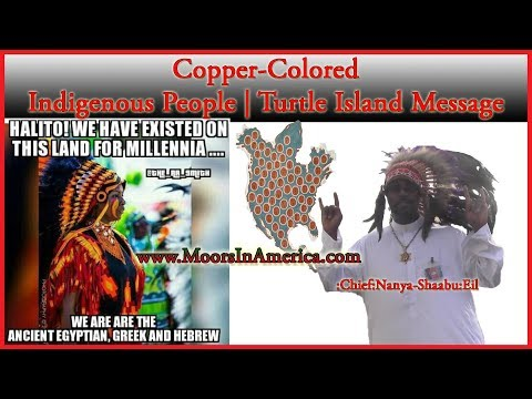 Copper Colored Indigenous People Turtle Island Message by Chief Nanya ShaabuEil