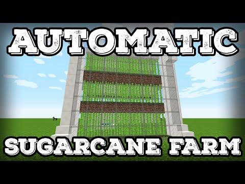Minecraft Tutorial - Automatic Sugarcane Farm - Compact(Minecraft 1.11+)