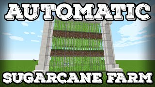 Minecraft Tutorial - Automatic Sugarcane Farm - Compact(Minecraft 1.8+)